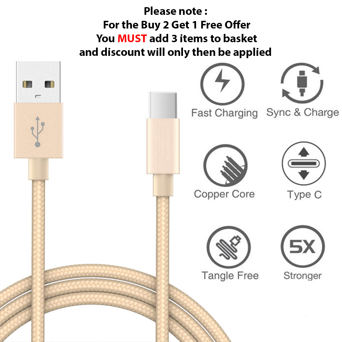 thumbnail 72 - For Samsung Galaxy S10 S10+ Plus Type C USB-C Sync Charger Charging Lead Cable