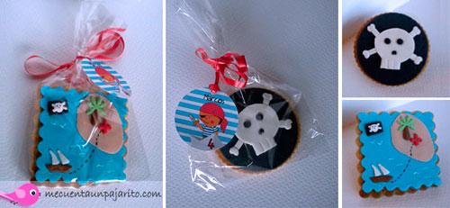 kit de fiesta de cumpleaños pirata, Galletas de pirata, etiquetas