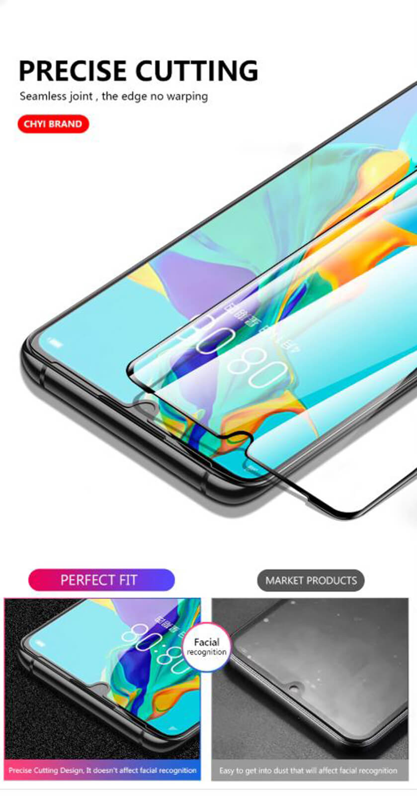 Full-Coverage-3D-Tempered-Glass-Screen-Protector-For-Huawei-P30-P20-Pro-Mate-20 Indexbild 21