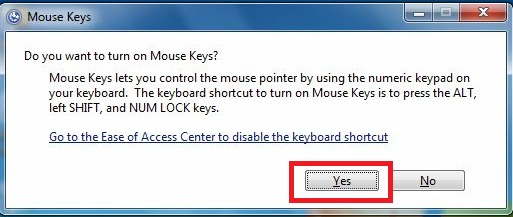 How to control mouse pointer by using keyboard?