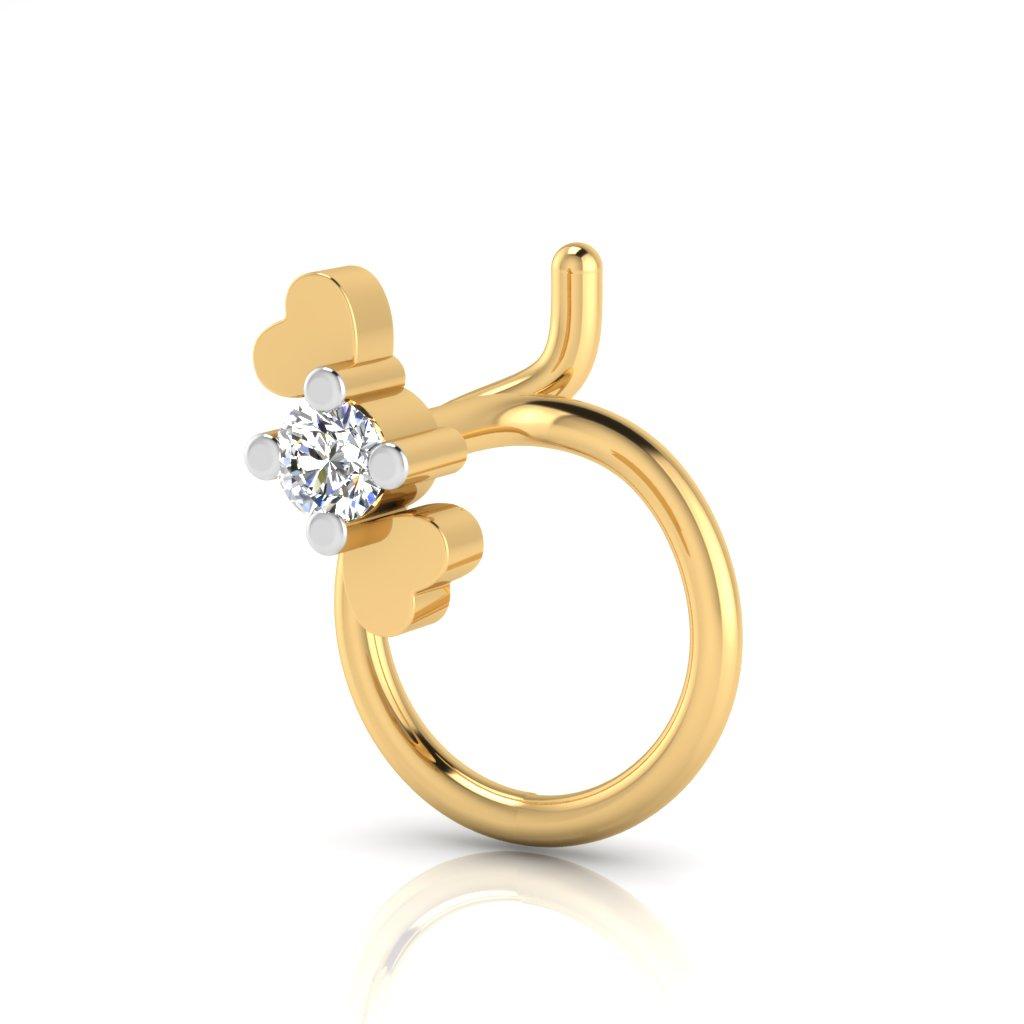 The Diva Solitaire Diamond Nose Pin