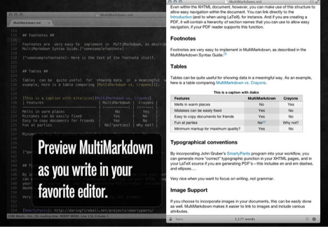You can also install a plugin to preview your Markdown in the Marked app
