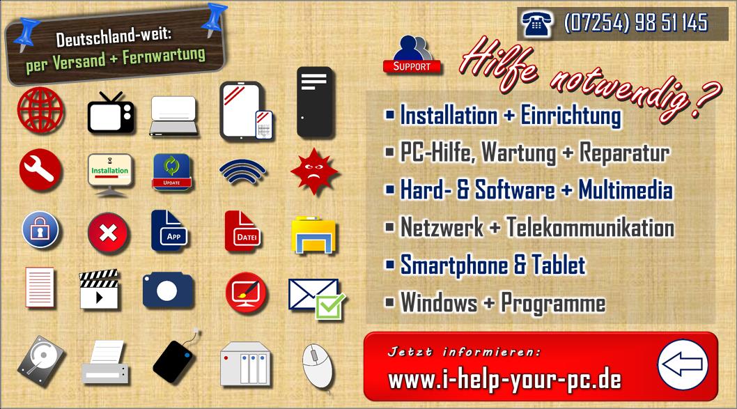 Hilfe zu PC, Internet + Multimedia benötigt? Bei mir sind Sie richtig.