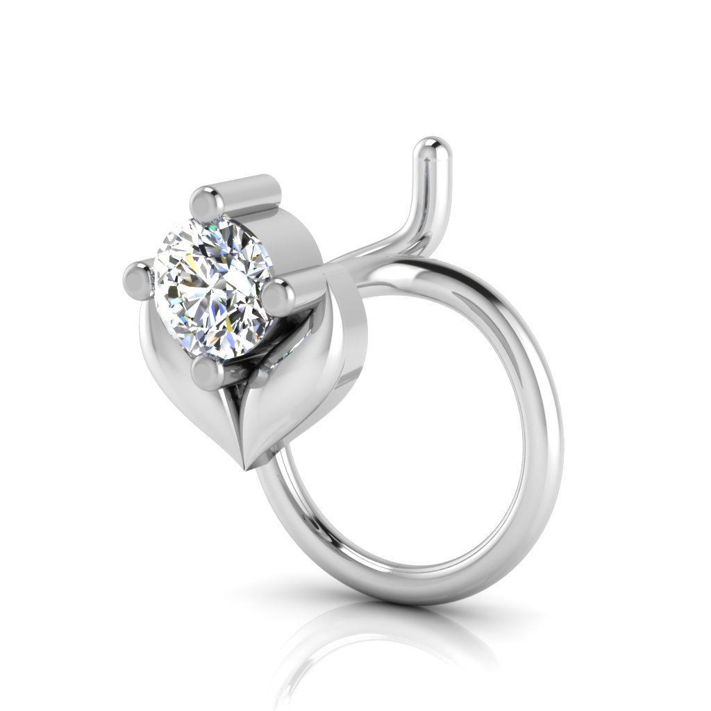 The Kashish Solitaire Diamond Nose Pin