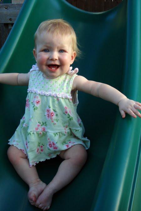Emily on her slide