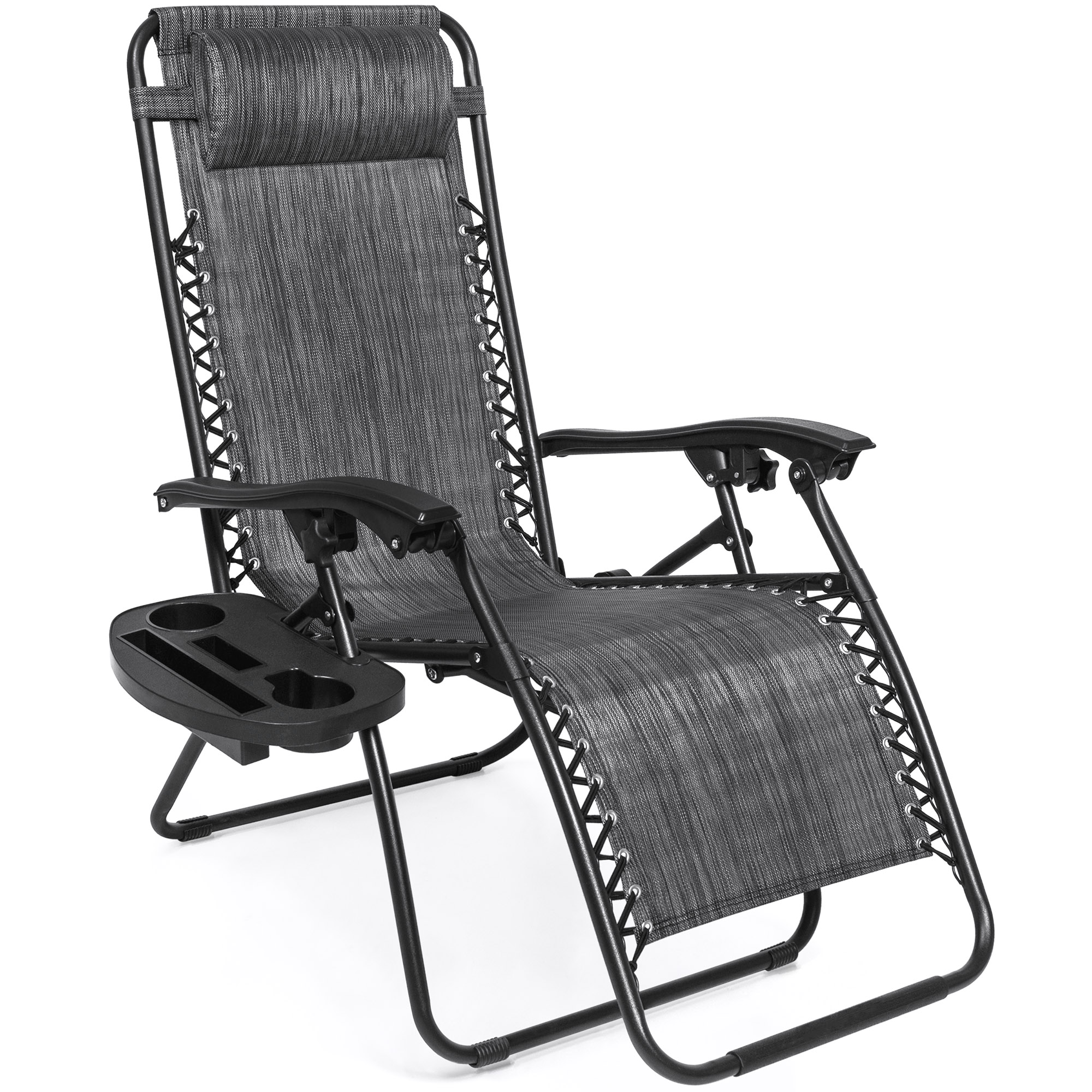 BCP-Set-of-2-Adjustable-Zero-Gravity-Patio-Chair-Recliners-w-Cup-Holders thumbnail 45