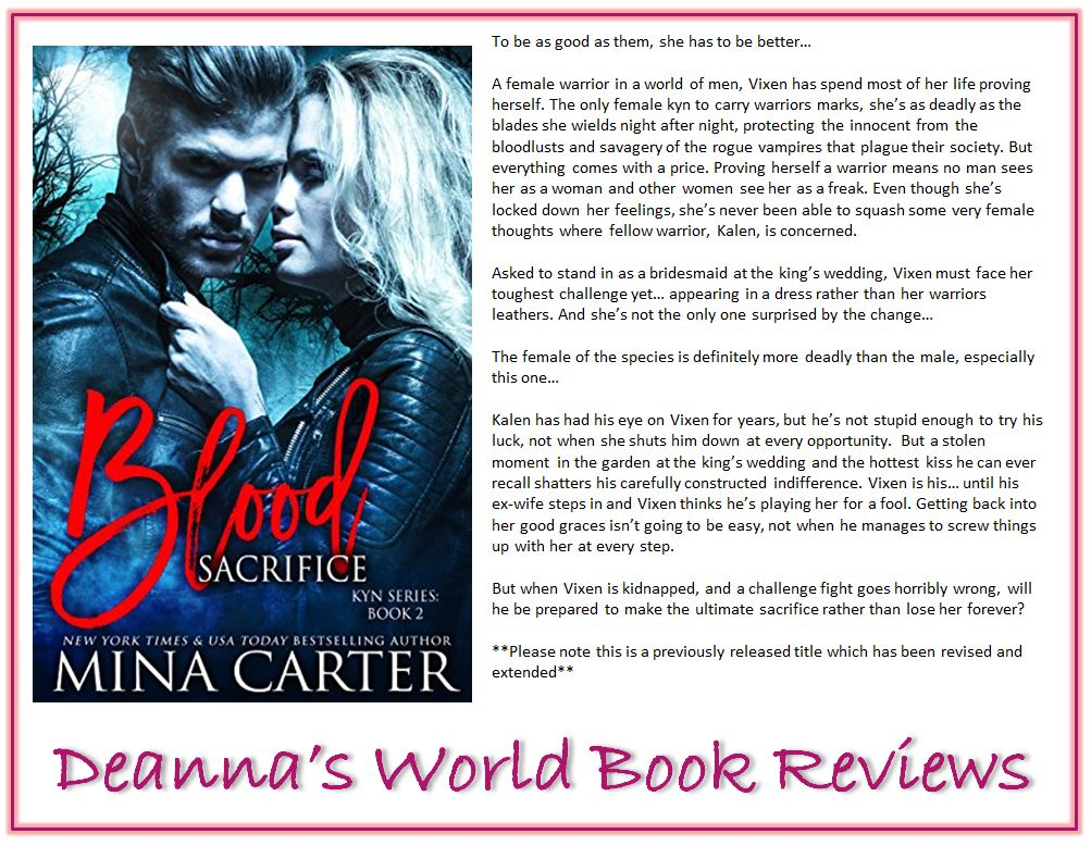 Blood Sacrifice by Mina Carter blurb