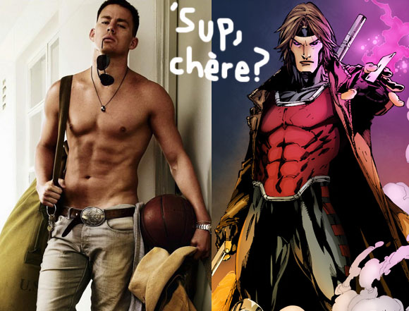 'x戰警系列電影將加入一個好萊塢大咖演員-查寧塔圖/查寧泰坦 飾演 金牌手/牌皇gambit!