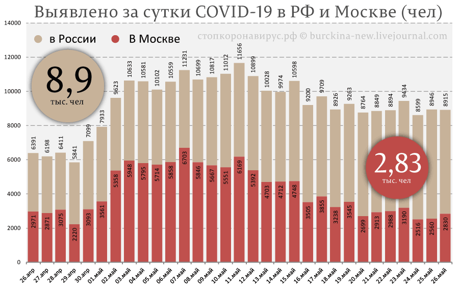 Объяснение рекордного числа выздоровлений СОVID-19 от 26 мая в России