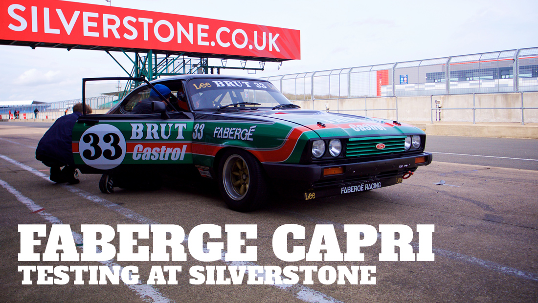 Take to the Road Faberge Capri Testing at Silverstone