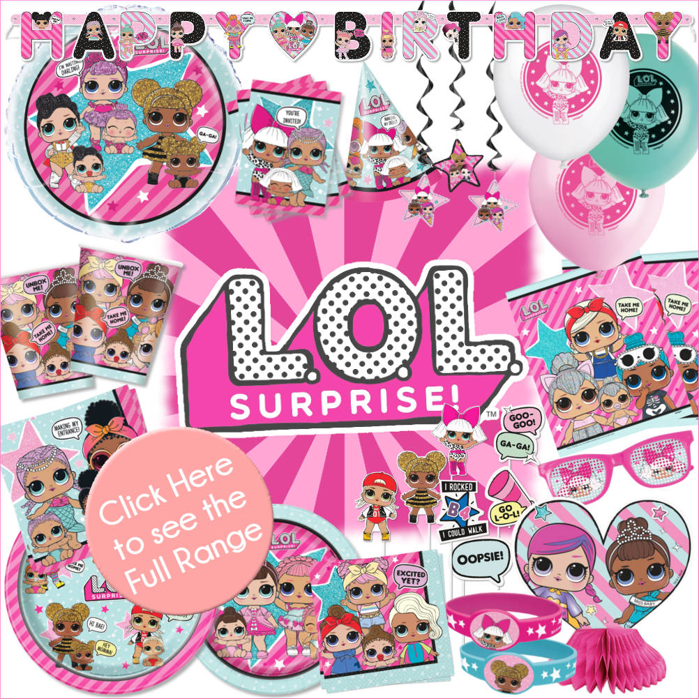 LOL Surprise 7Pc Party Decoration Kit Girls Birthday