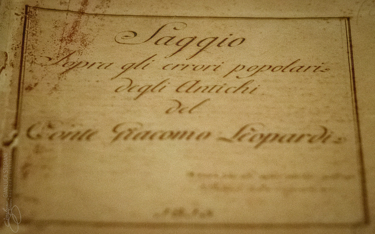 Manoscritto originale del Leopardi - Gianluca Storani Photo Art (ID: 4-7085)