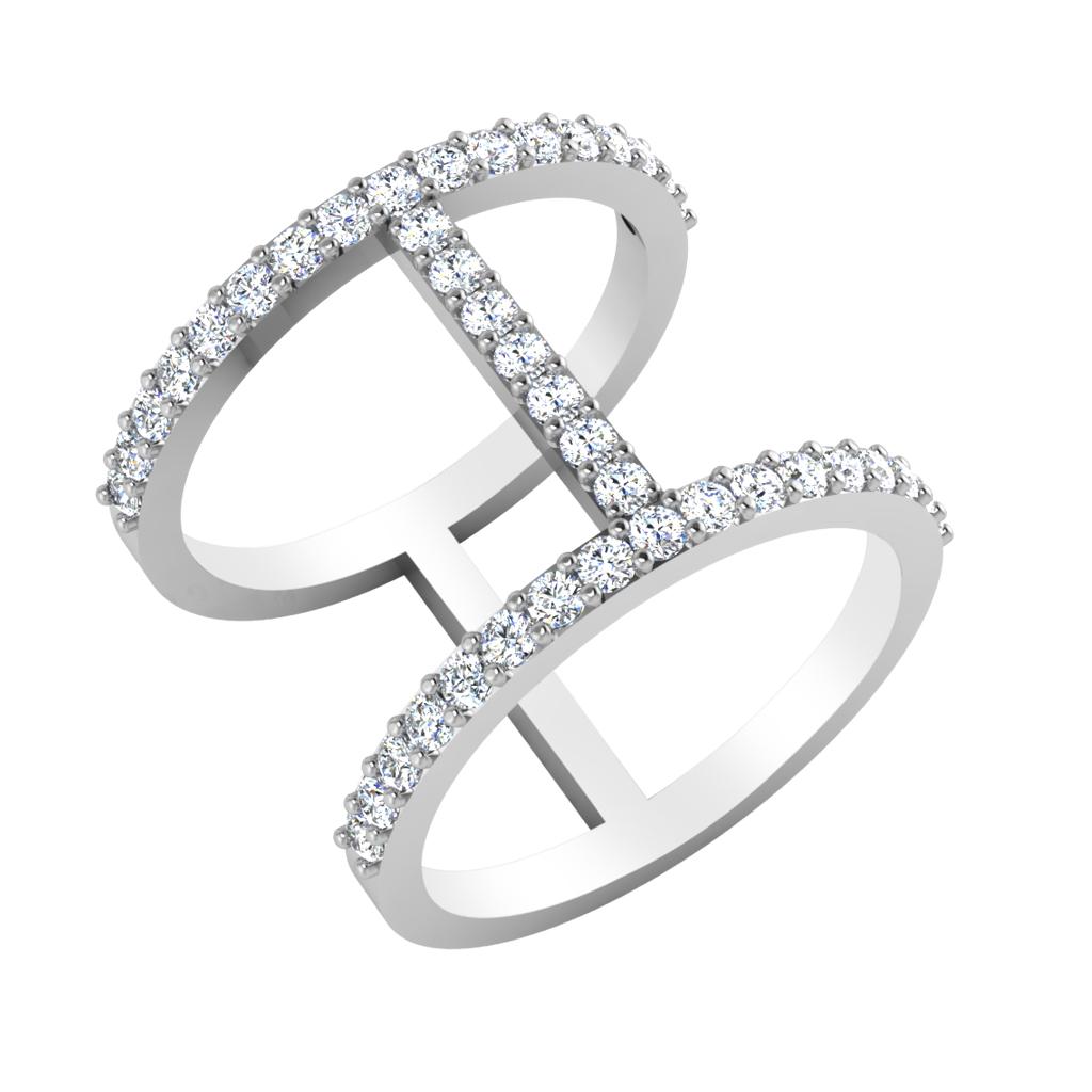 The Gleam Swirl Diamond Ring