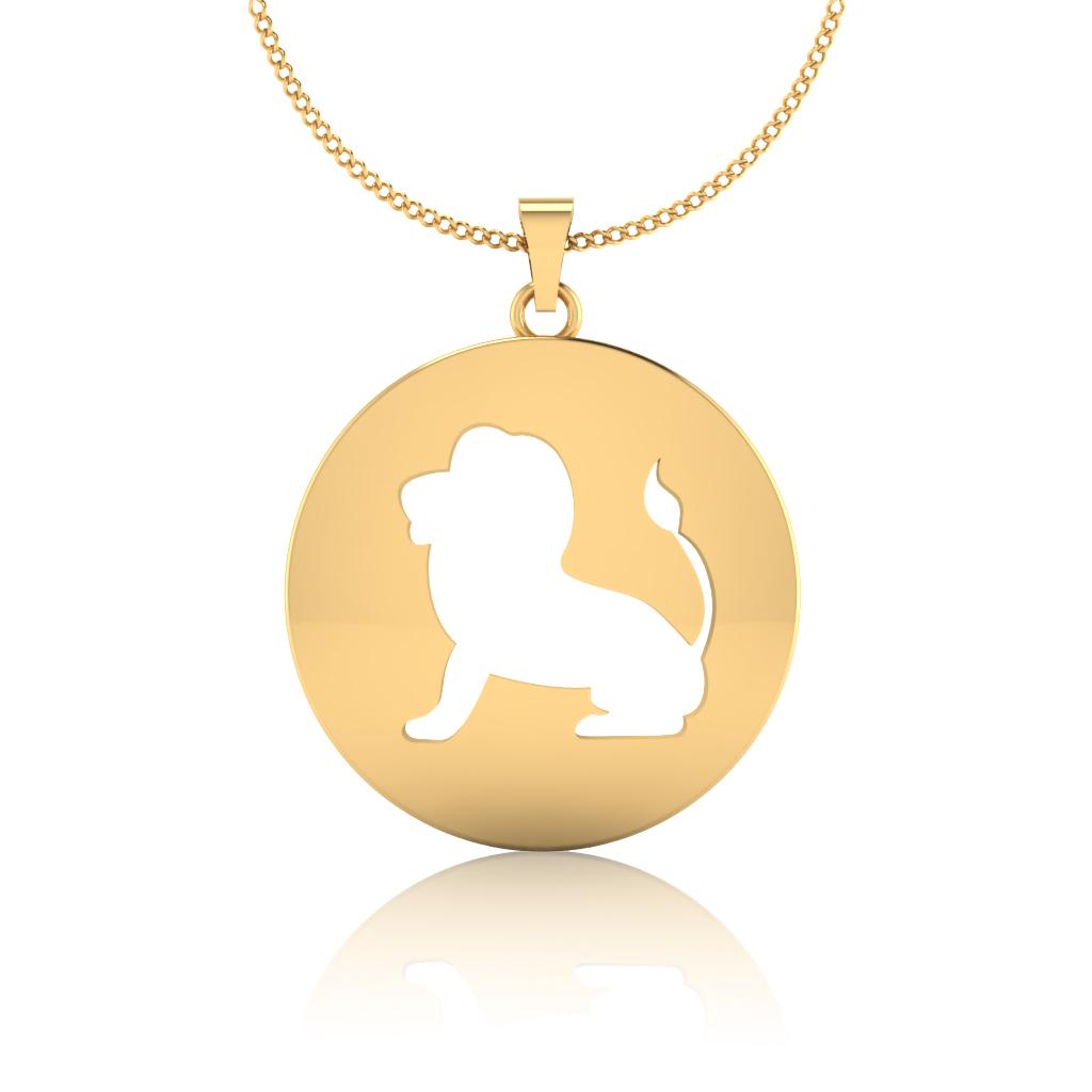 The Leo Zodiac Gold Pendant