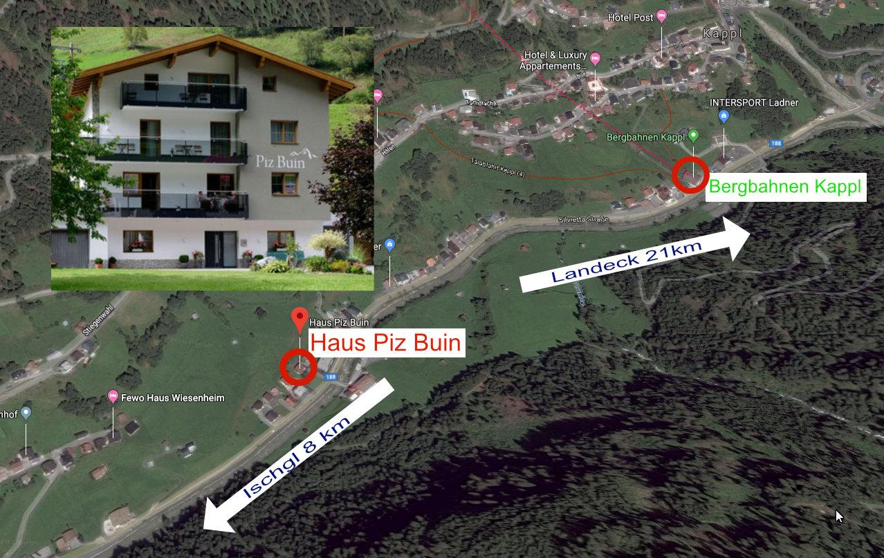 Lageplan Haus Piz Buin