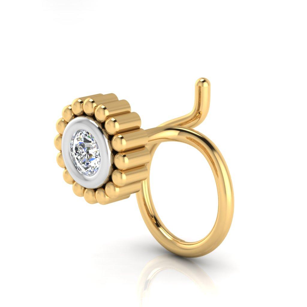 The Elli Solitaire Diamond Nose Pin