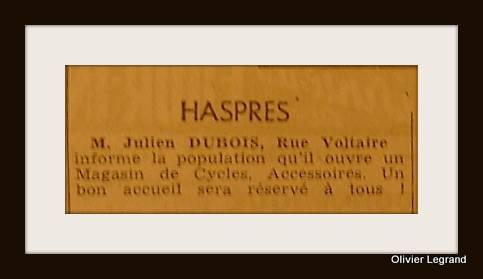 Les cycles Dubois dans la rue Victor Hugo