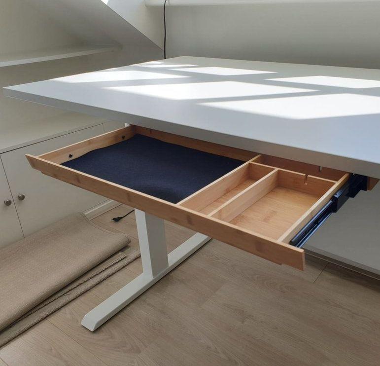 houten lade onder je bureau