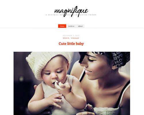 magnifique - free theme thang ba