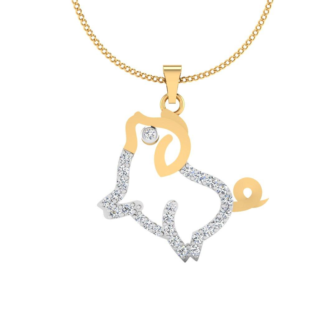 The Piggy Diamond Pendant
