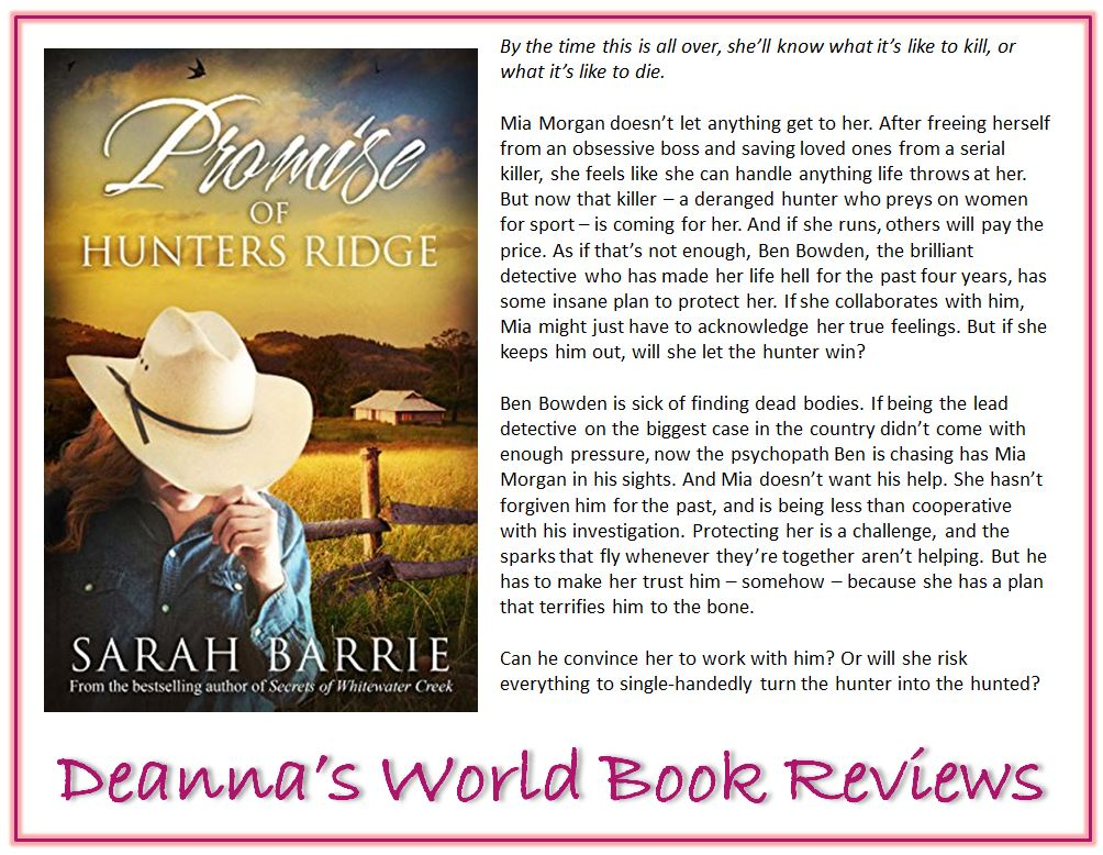 Promise of Hunters Ridge by Sarah Barrie blurb