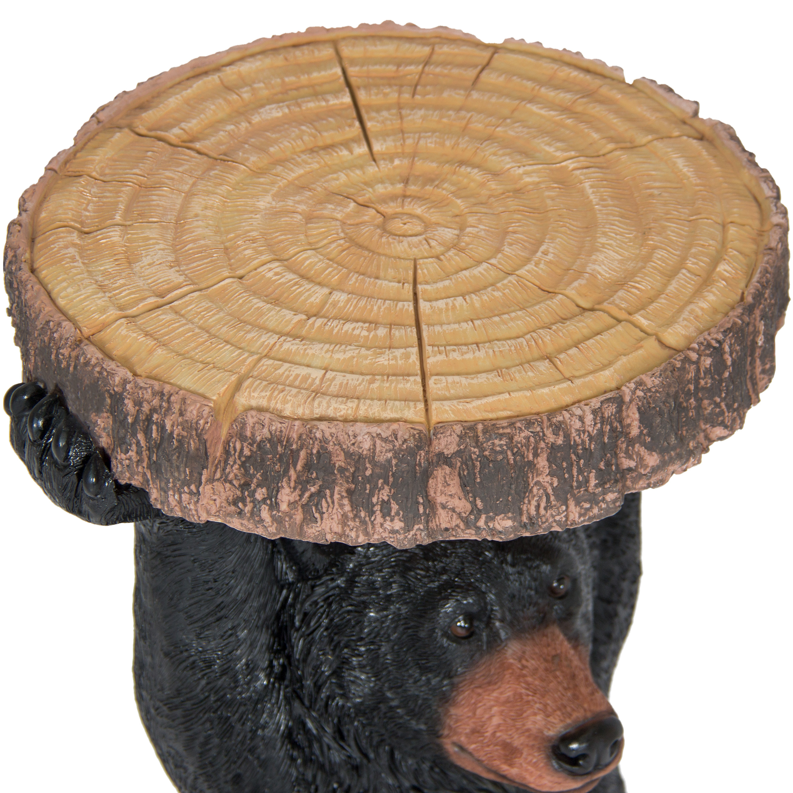 Best Choice Products Decorative Bear Pedestal Patio Side