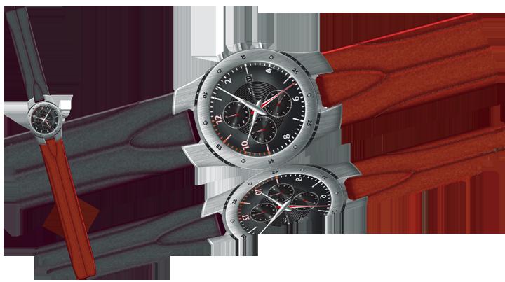 """Proposition de montre s'appuyant sur l'identité de l'intérieur du concept-car """"Essence"""". Cliquez pour afficher en HD"""