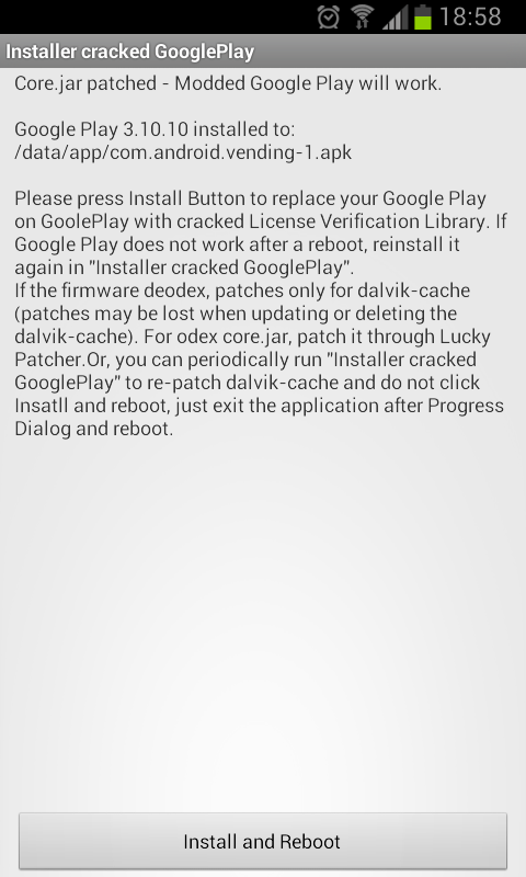 (Android) Google Play v1.0.6 Crackeado (M)(DB)