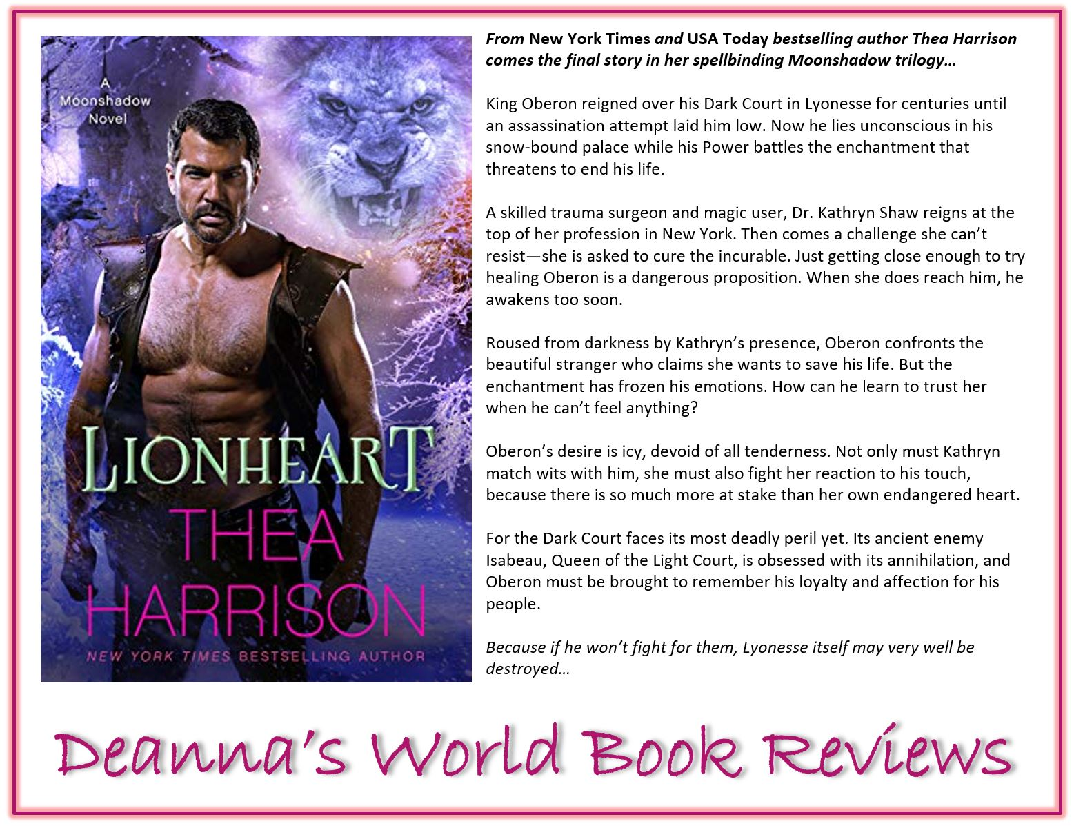 Lionheart by Thea Harrison blurb