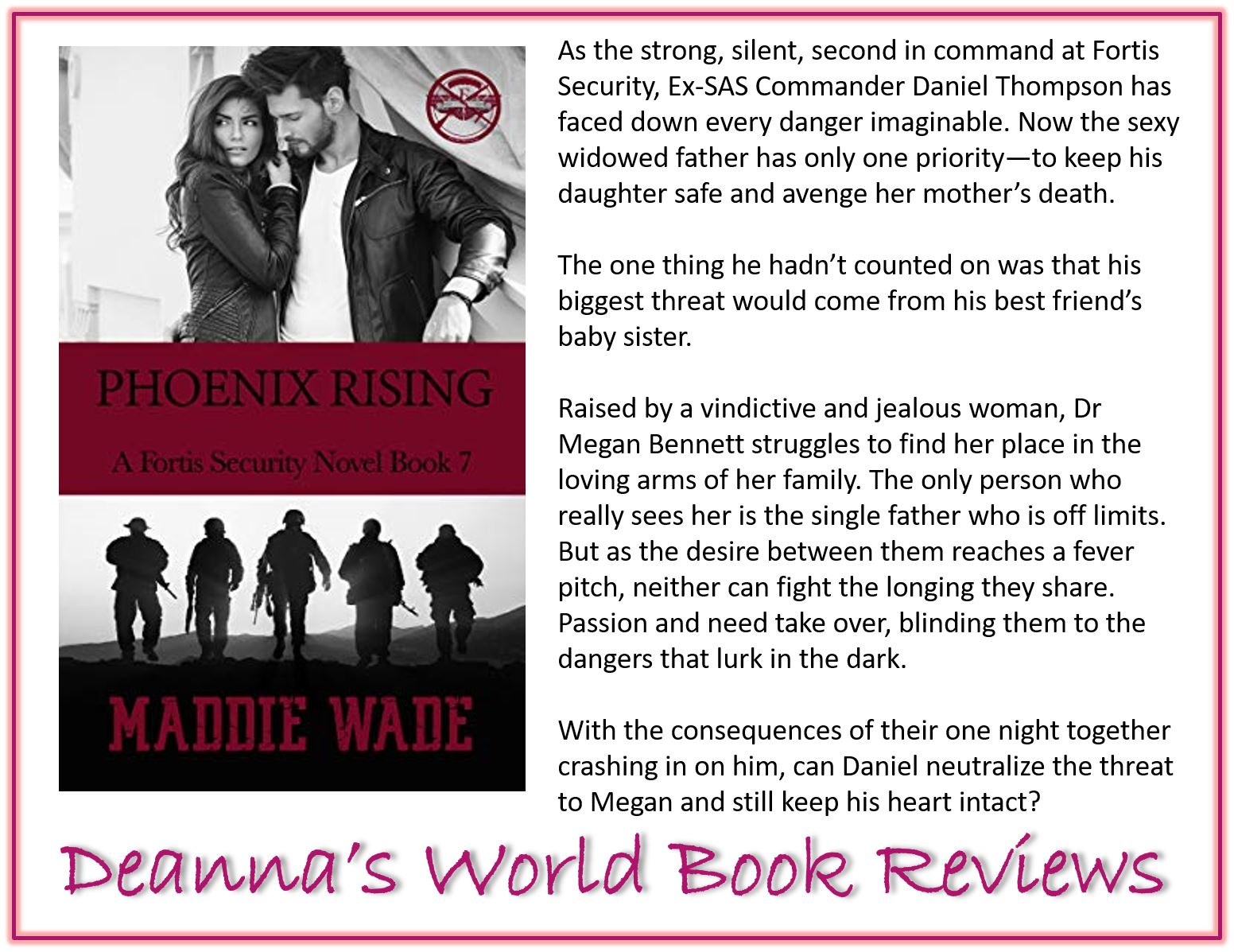 Phoenix Rising by Maddie Wade blurb