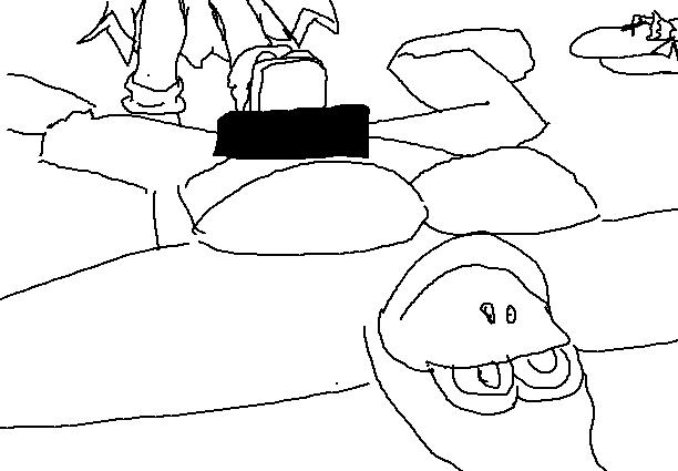Dibujos feos de paint parte 3: Cruzados del pixelito blanco Brawler