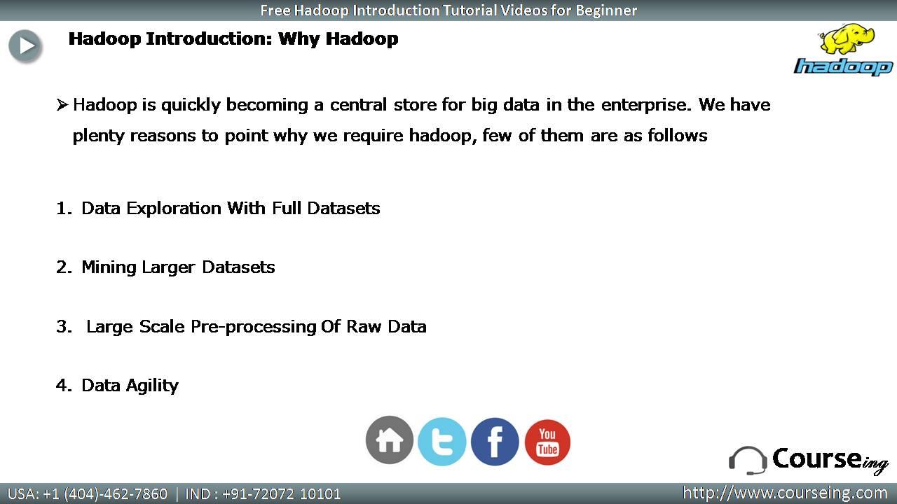 Free Hadoop Introduction Why Hadoop