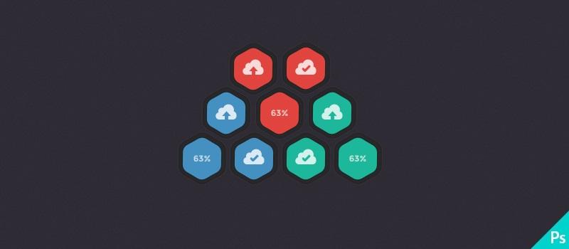 PSD - Cloud Hosting Upload Buttons