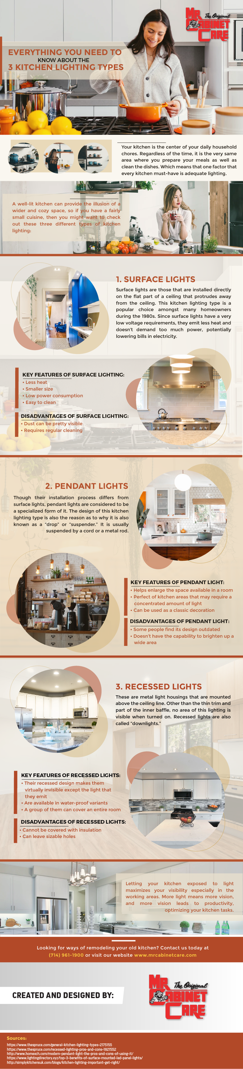 Everything You Need to Know About the 3 Kitchen Lighting Types - Infographic
