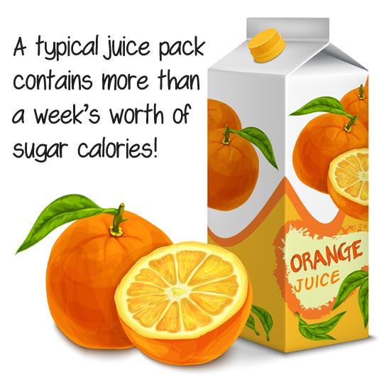 Drink less packaged juice