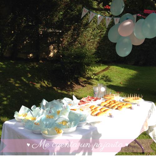 Mesa dulce y salada del cumpleaños de Frozen con Elsa y Ana
