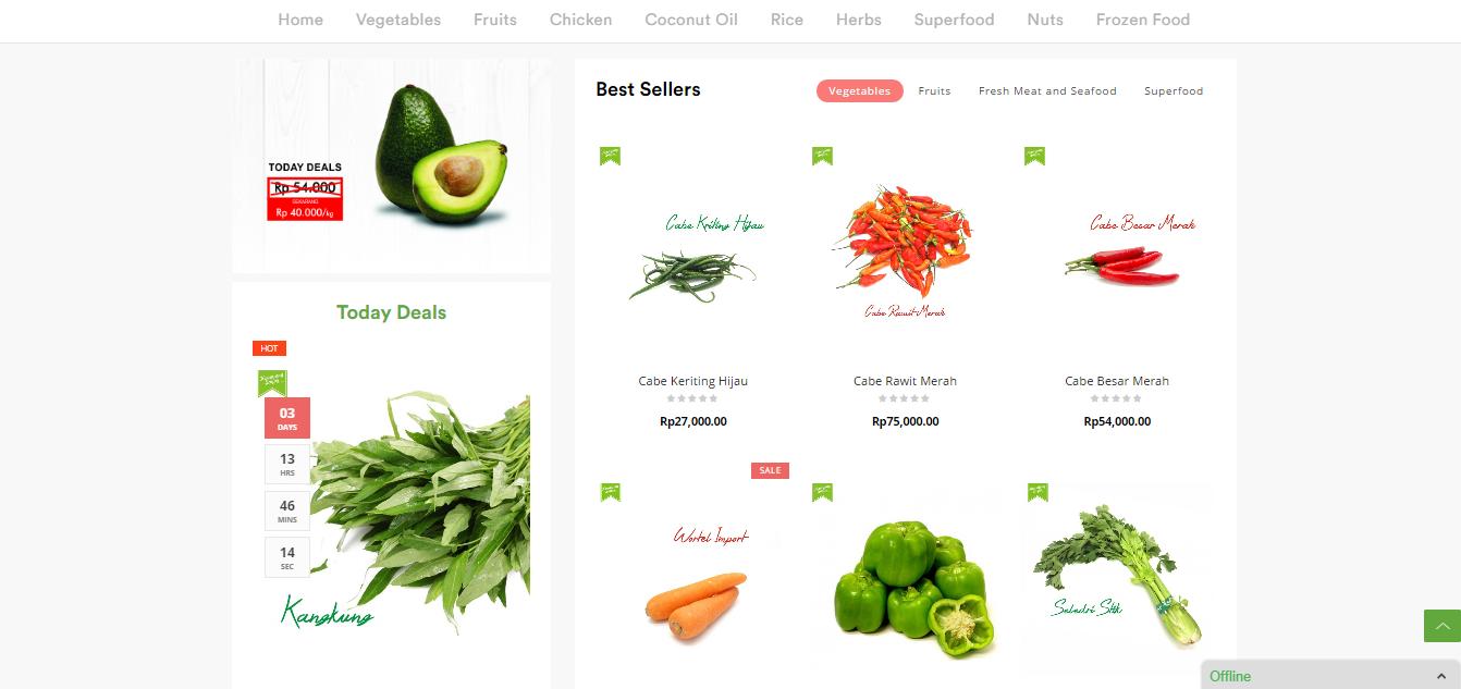 website keranjang sayur