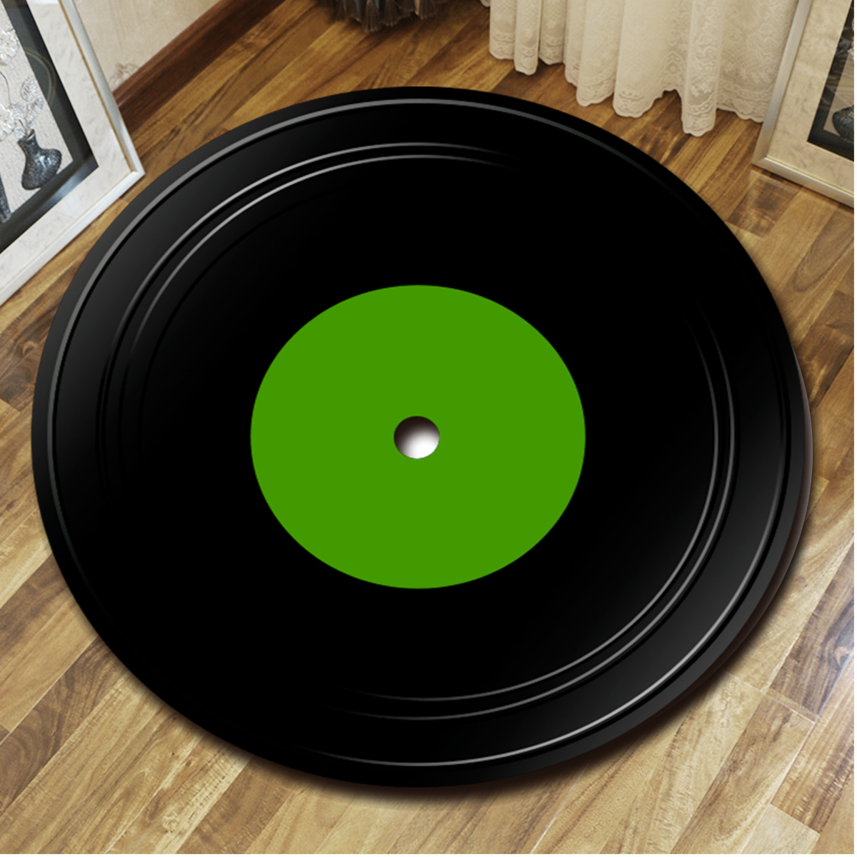 Rugs Amp Carpets Fashions Vinyl Record Carpet Round Floor