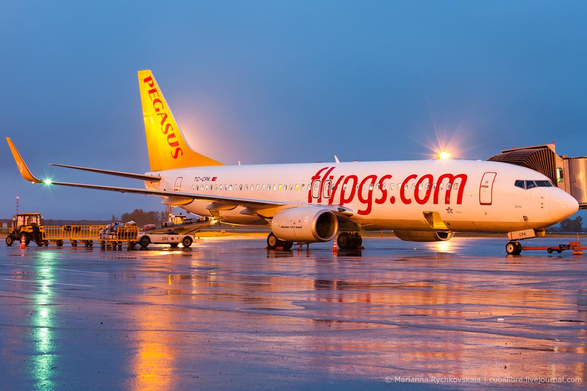 Boeing 737 турецкой авиакомпании Pegasus