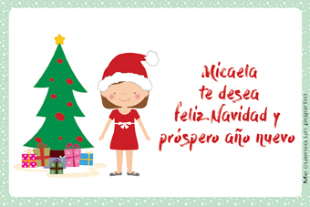 Felicitación de Navidad personalizada con niña
