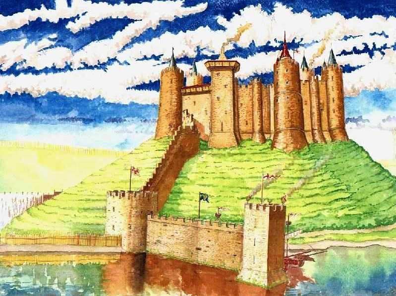 Замок Бервик в средневековье