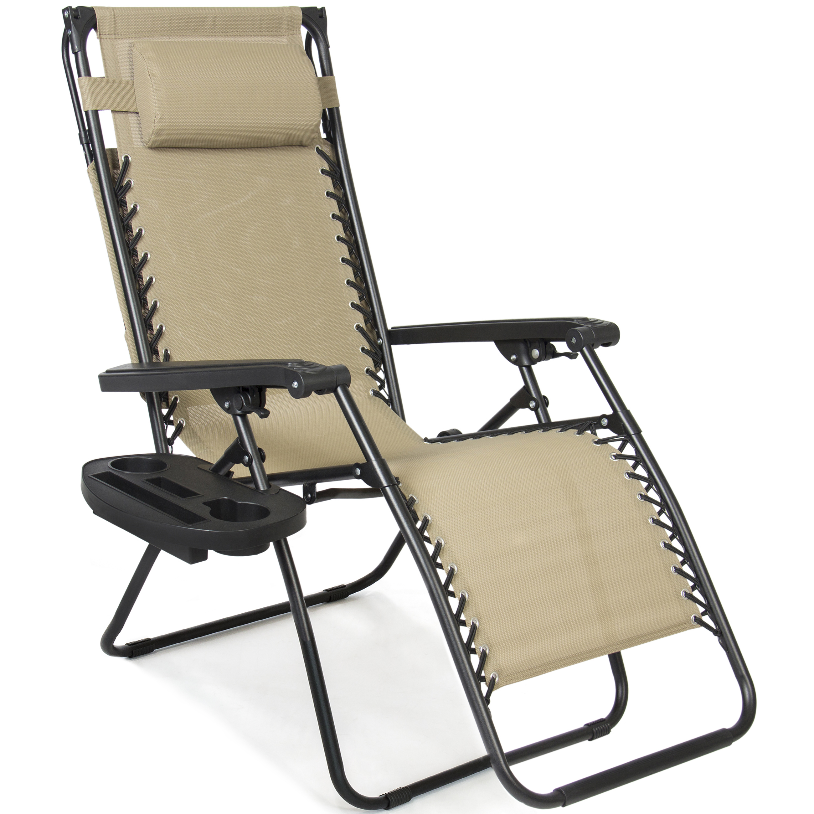 BCP-Folding-Zero-Gravity-Recliner-Lounge-Chair-w-Canopy-Cup-Holder thumbnail 10