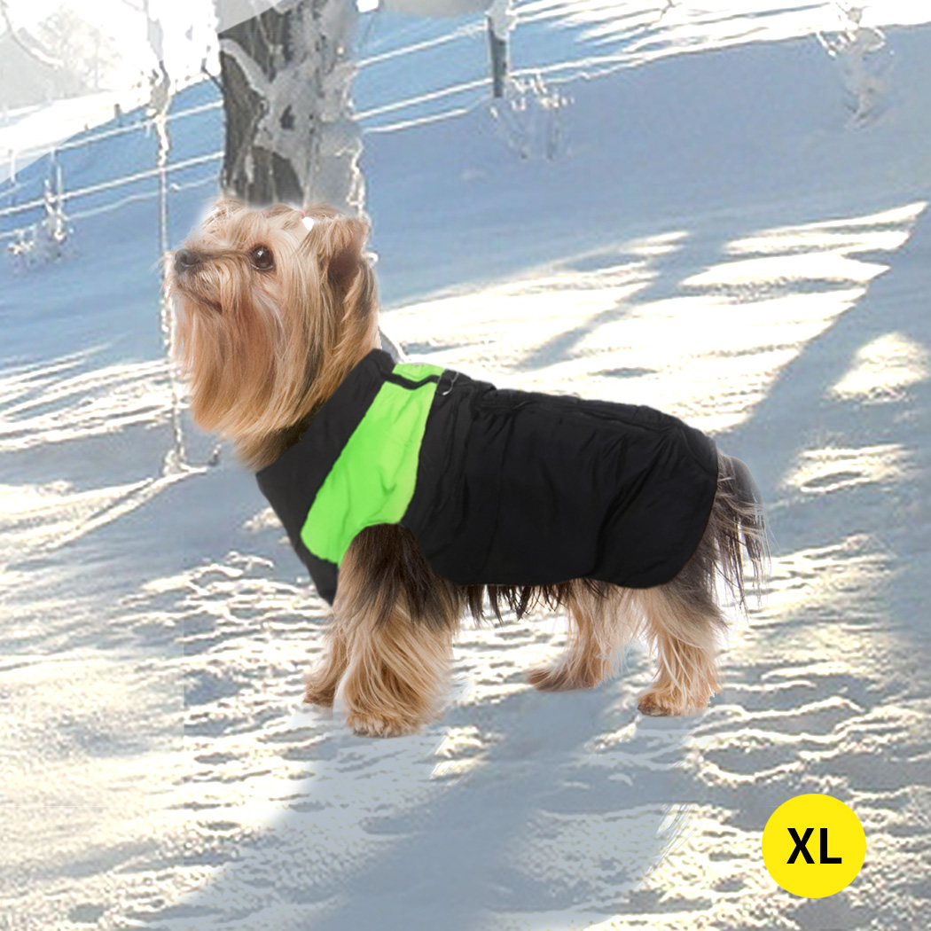 thumbnail 40 - PaWz Dog Jacket Large Pet Jackets Coat Waterproof Clothes Winter Vest Green