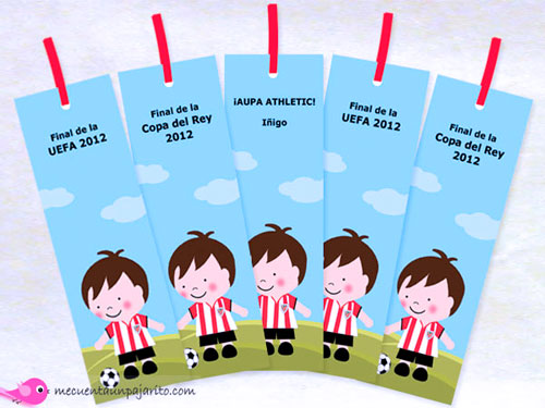 Marcapáginas del Athletic de Bilbao