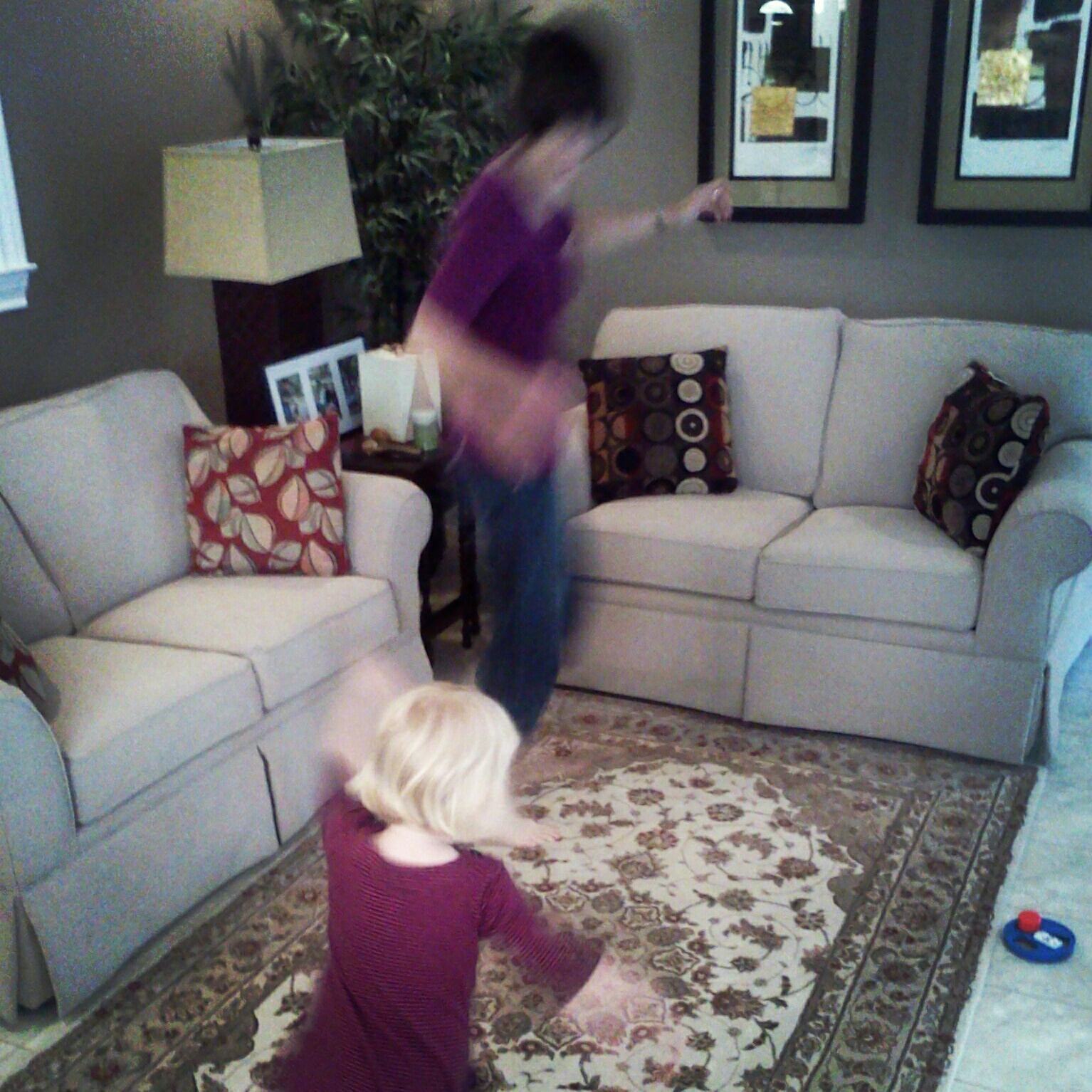 Emily dancing with her grandma