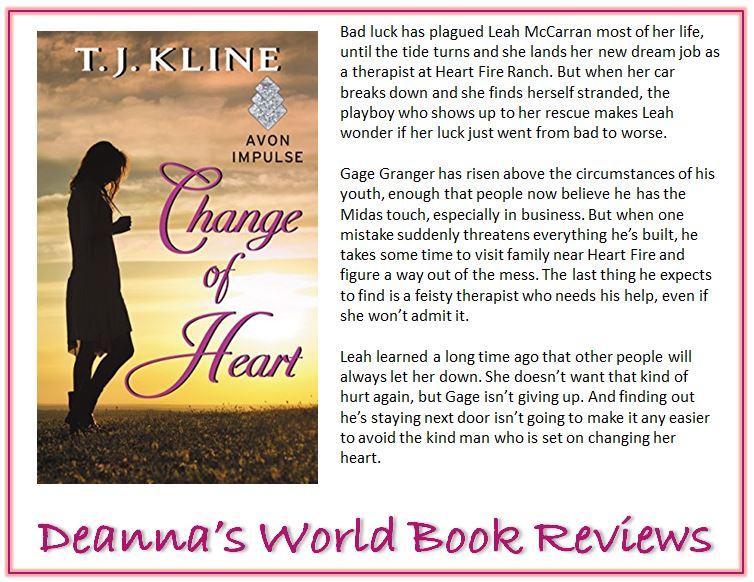 Change of Heart by T J Kline blurb