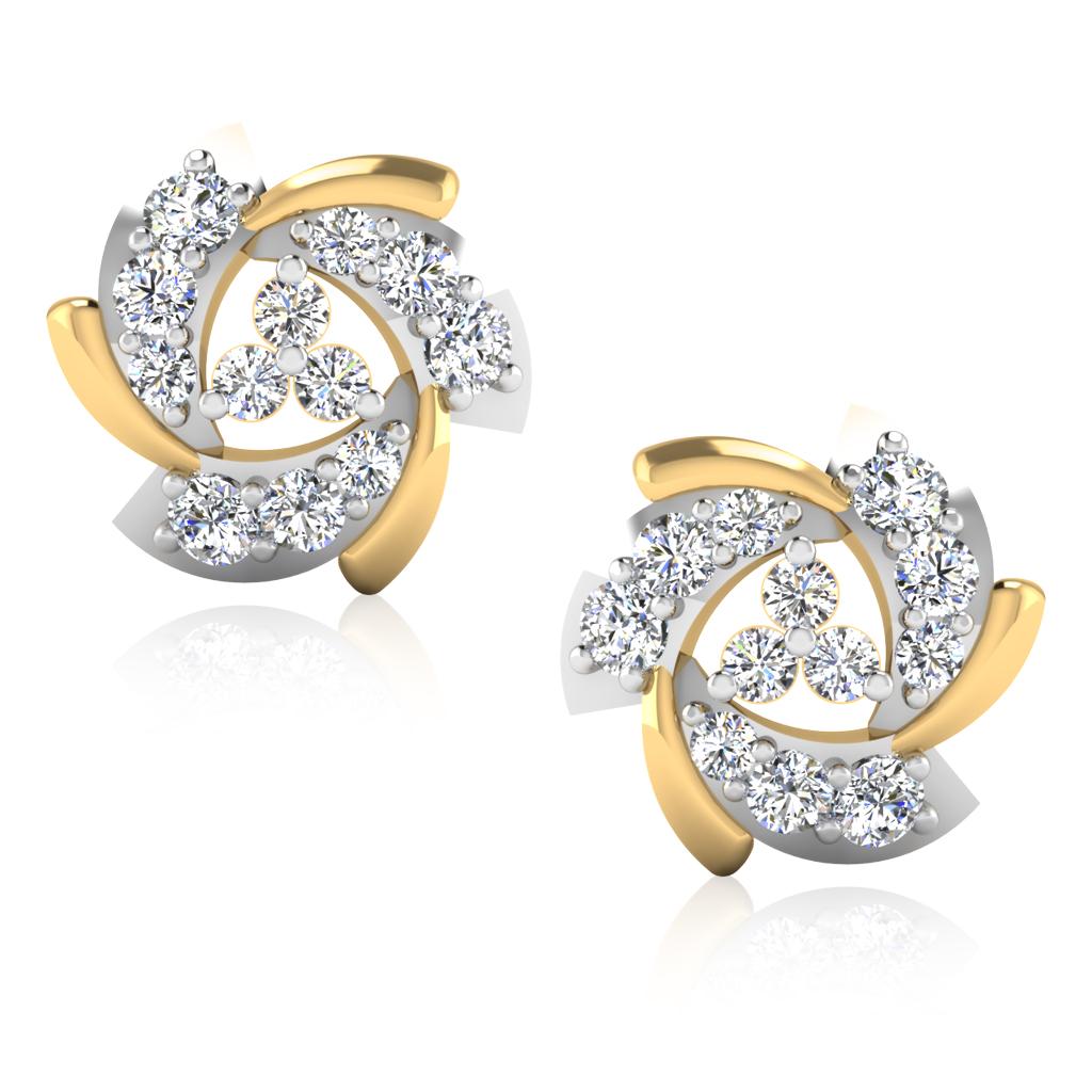 The Harsha Diamond Stud Earrings
