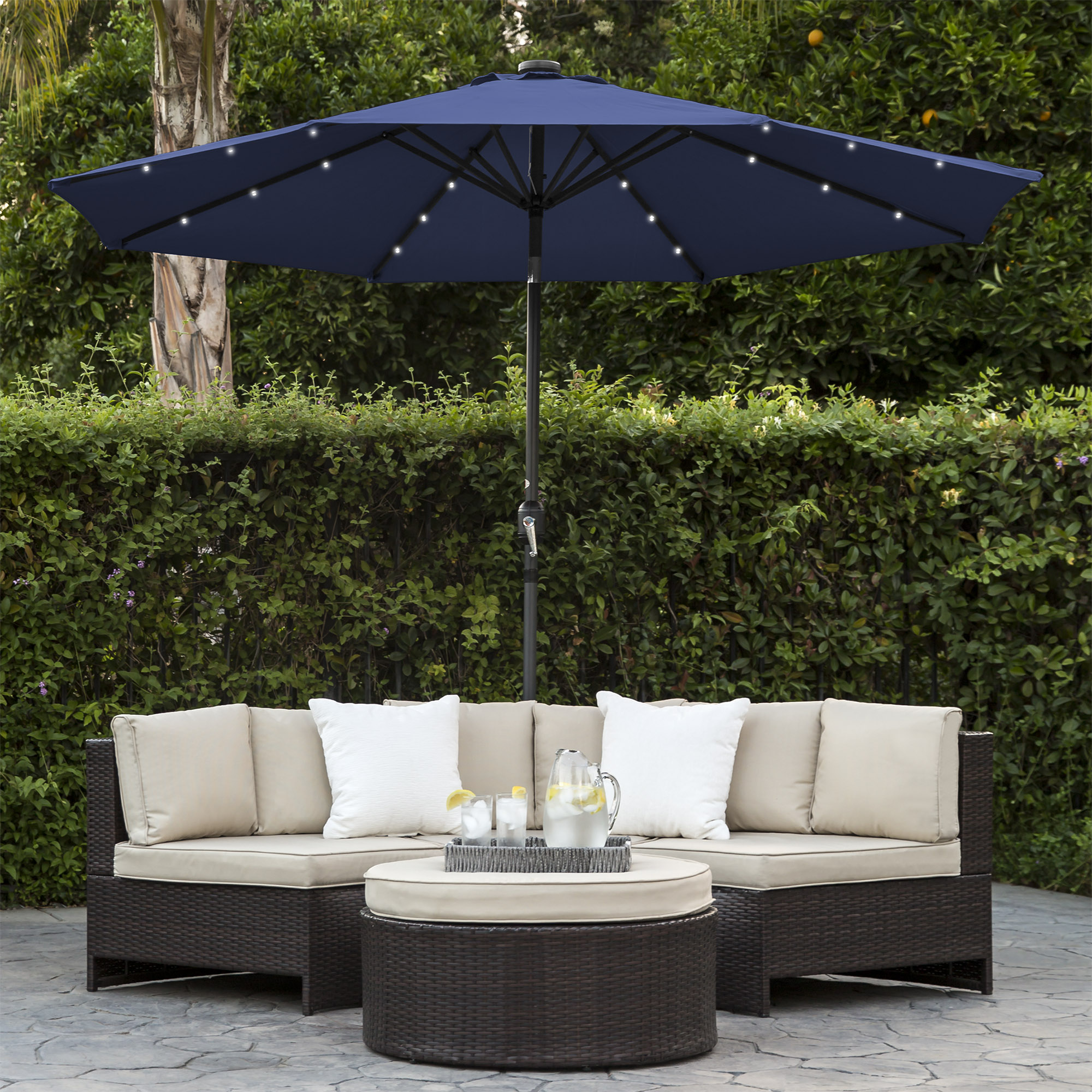 BCP-10ft-Solar-LED-Lighted-Patio-Umbrella-w-Tilt-Adjustment-Fade-Resistance thumbnail 43