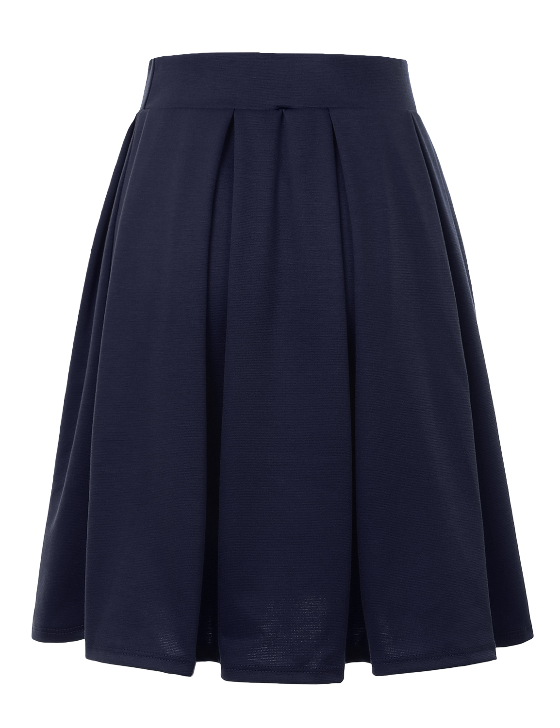 Doublju-Elastic-Waist-Flare-Pleated-Skater-Midi-Skirt-for-Women-with-Plus-Size thumbnail 15