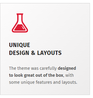 Unique design features
